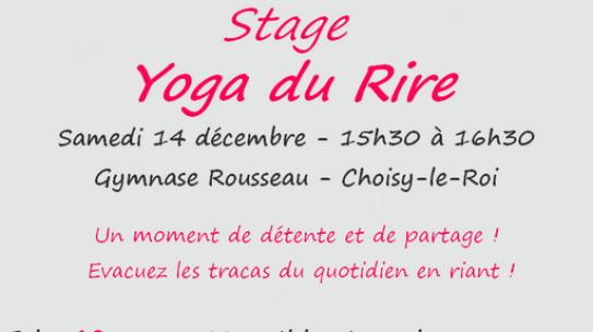Stage Yoga du Rire – Samedi 14 Décembre